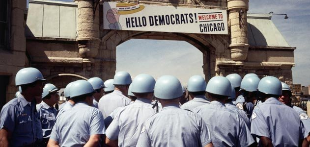 Police at the Chicago DNC 1968