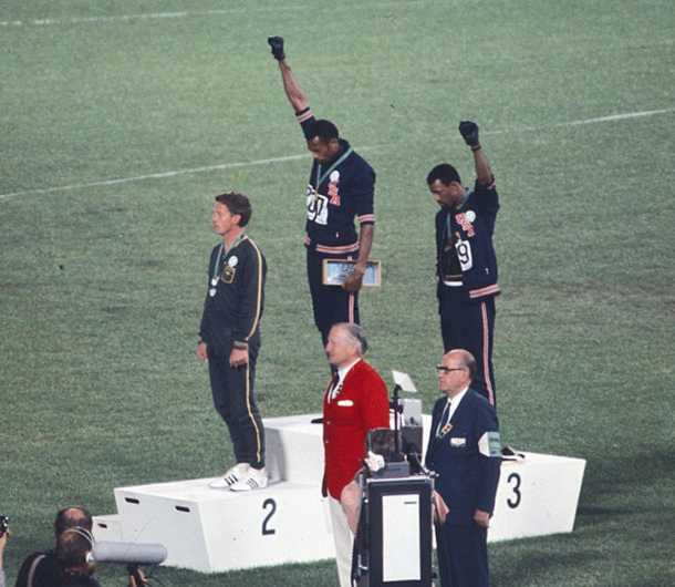 Black Power salute at the 1968 Olympic Games