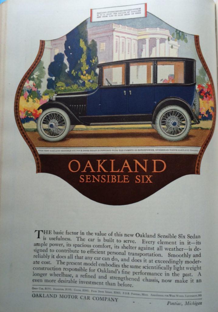 Oakland auto ad 1920