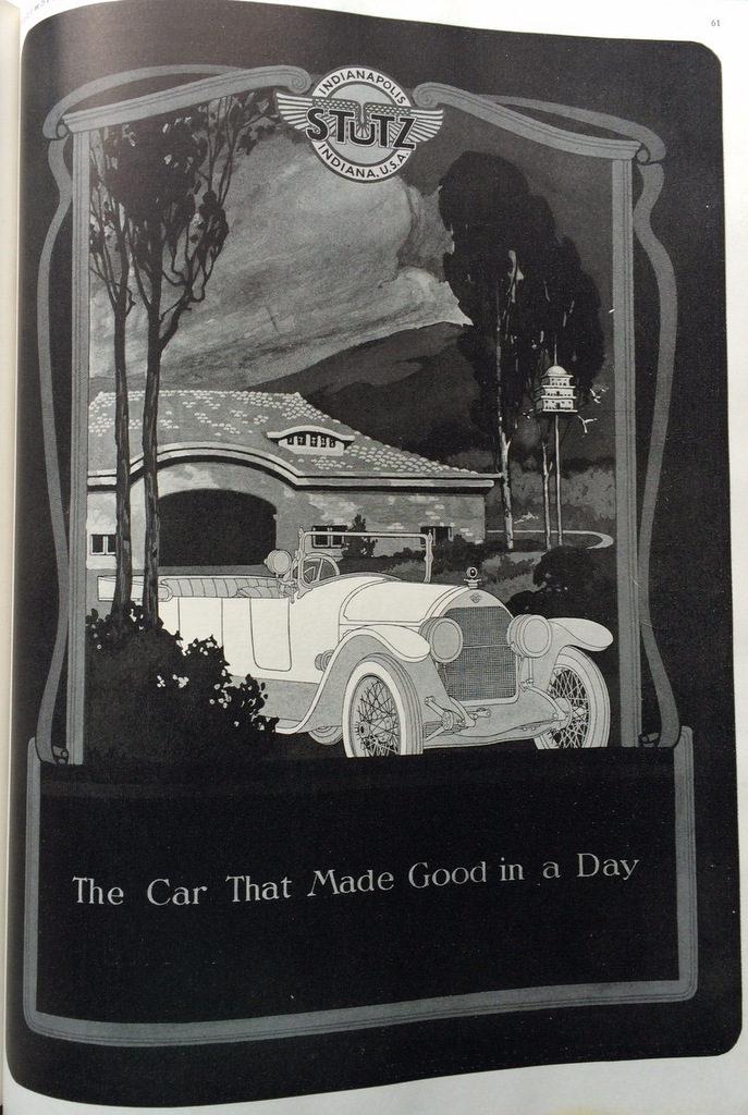 Stutz auto ad 1920