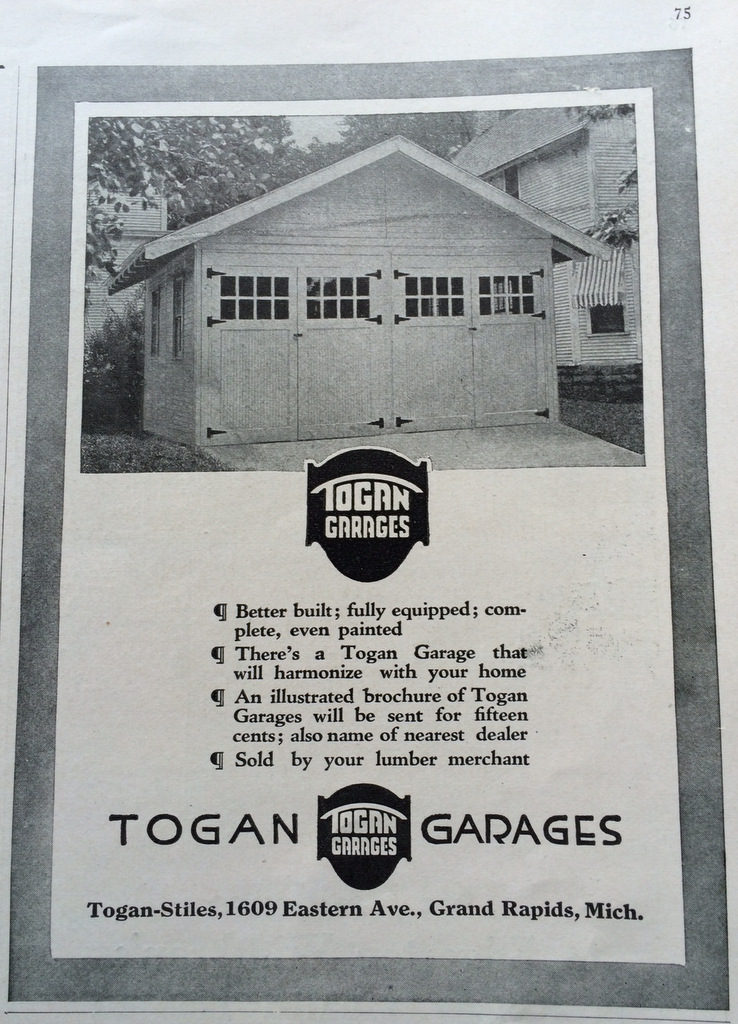 Togan auto garage ad 1920