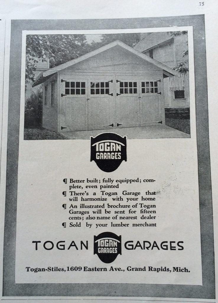 Togan auto garage ad 1920