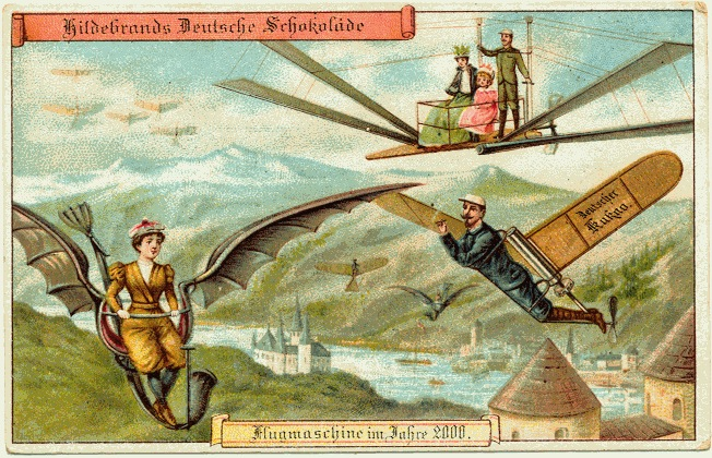 personal flying machines, retrofuturism