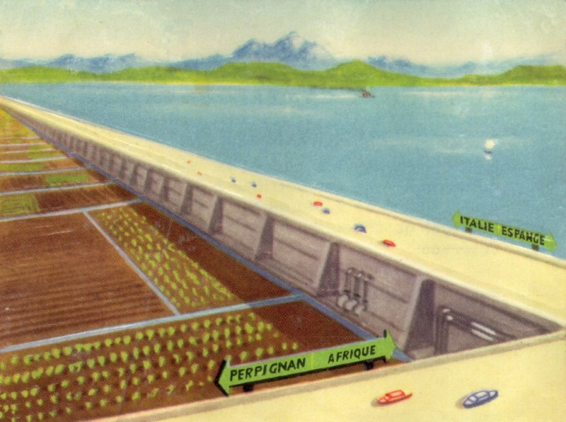 Mediterranean super highway, retrofuturism