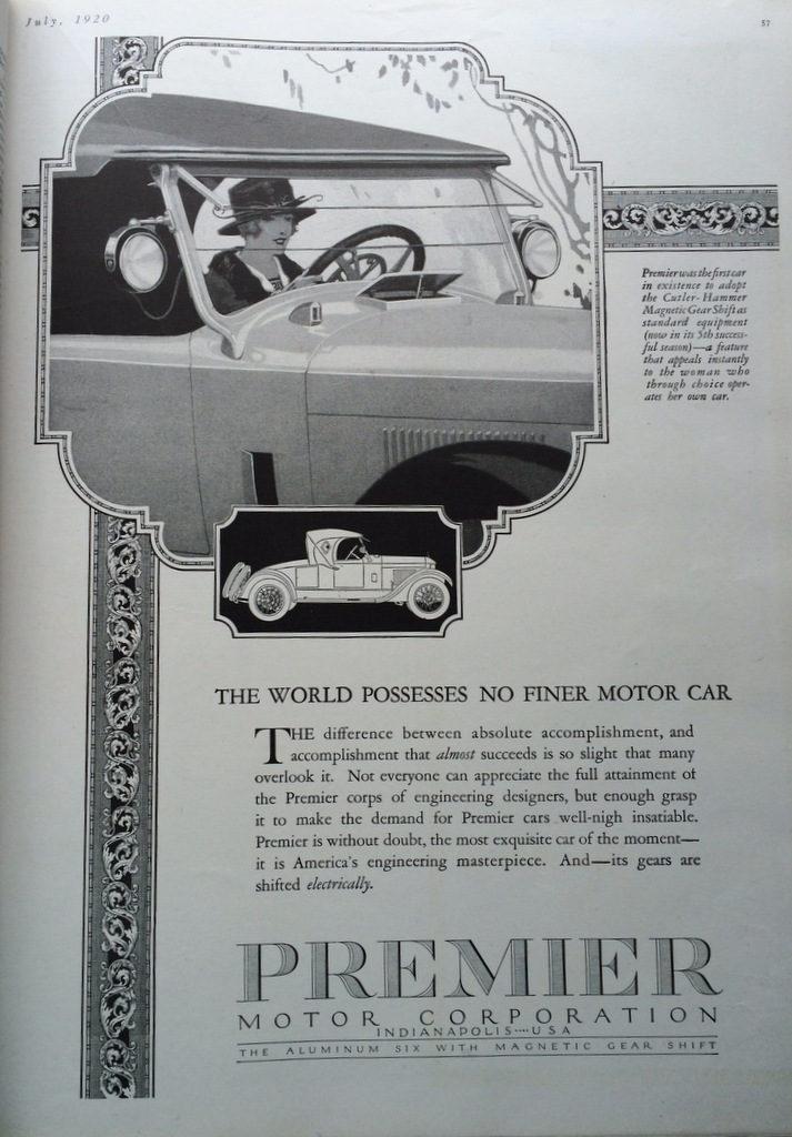 Premier Auto ad 1920