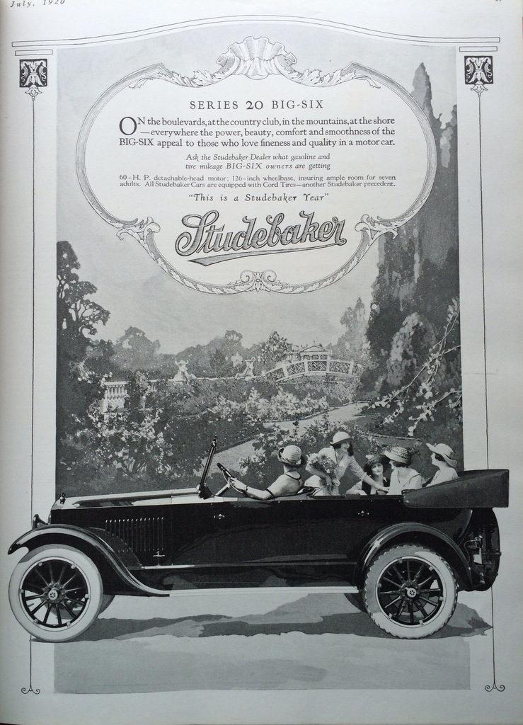 Studebaker auto ad 1920