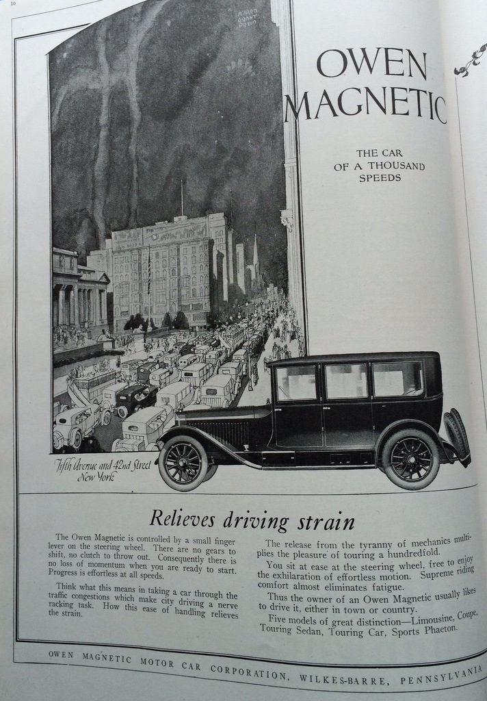 Owen Magnetic auto ad 1920