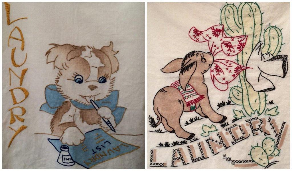 Brimfield, Vintage Laundry Bags