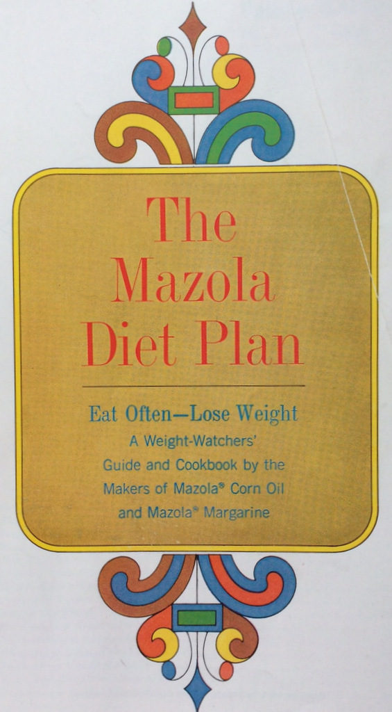 Mazola Diet Plan, cover