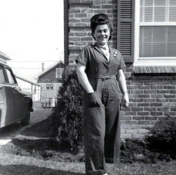 Aunt Dora--a post-war Rosie