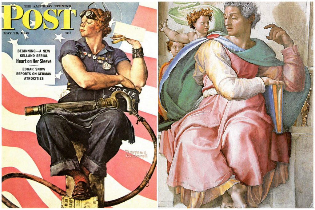 Rosie the Riveter compare Isaiah
