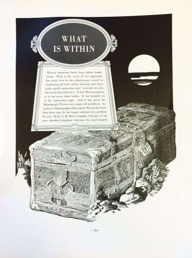 Fortune Mag, July 1935, Mimeograph ad