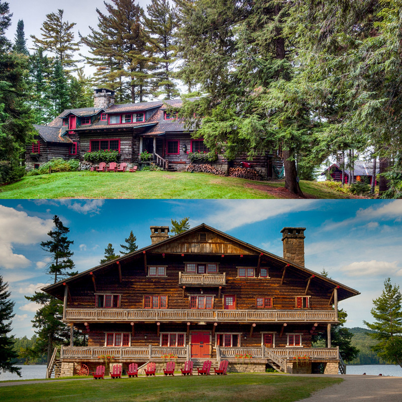 Rustic lodges of the super-rich